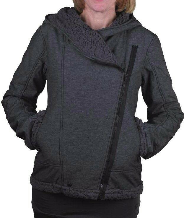 Bench Womens Black Swaggering Hooded Winter Jacket w Soft Fleece Lining BLKA1766