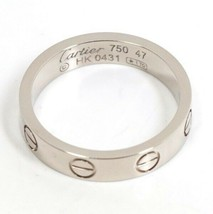Cartier Mini Love Ring Used Excellent++ Condition 750WG GOLD US4-4.5 Fro... - $662.06