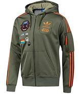 New Adidas Original Jacket StarWars Flock X Wind Track hoodie Green Oliv... - $129.99