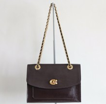 NWT COACH PARKER PATENT LEATHER SHOULDER BAG OXBLOOD - $221.56