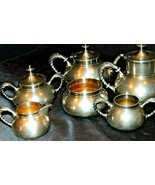 Plated Stainless Silver Serving 6 Pieces AA20-7384 Vintage - $175.95