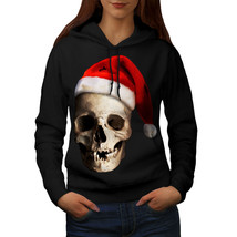 Skull Hat Santa Christmas Sweatshirt Hoody Xmas Love Women Hoodie - $21.99+