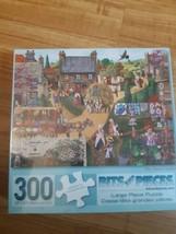 "Bits and Pieces The Town Vendor Puzzle 300 Pieces Large Piece 18"" x 24"" - $14.80"