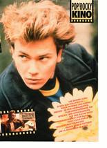 River Phoenix teen magazine pinup clipping messy hair Vintage 1980's Bop