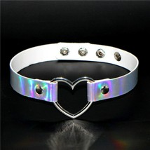 New Hot PU Leather Punk Heart Choker Necklace Buckle Collar Necklace Gift for Wo - $9.96