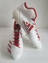 e194b84af03 adidas Mens Adizero 5-Star 6.0 Mid Football Cleats White Red B42481 Size 15  -