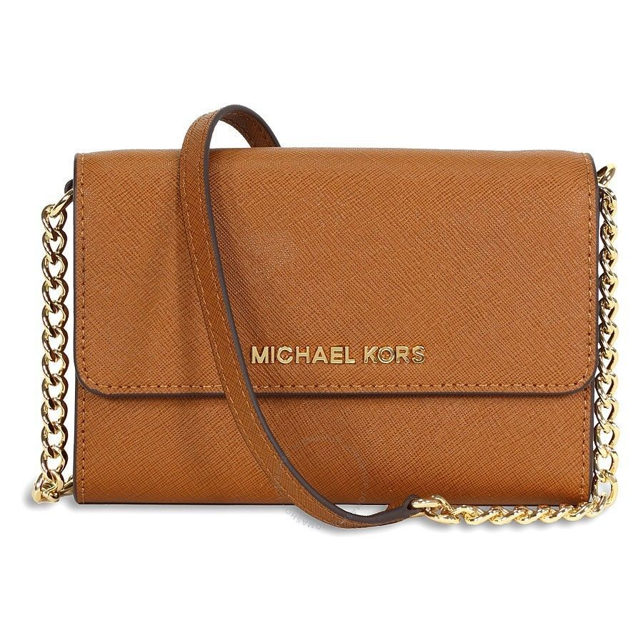 3a8c8394e777a NWT Authentic Michael Kors Jet Set Large Phone Crossbody Messenger Shoulder  Bag -  166.27