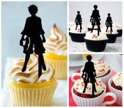 Ca475 Decorations cupcake toppers one piece luffy silhouette Package : 1... - $10.00