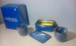 Avon Wellness tea for two. two tea cups tea tin and 16 tea bags - $6.93