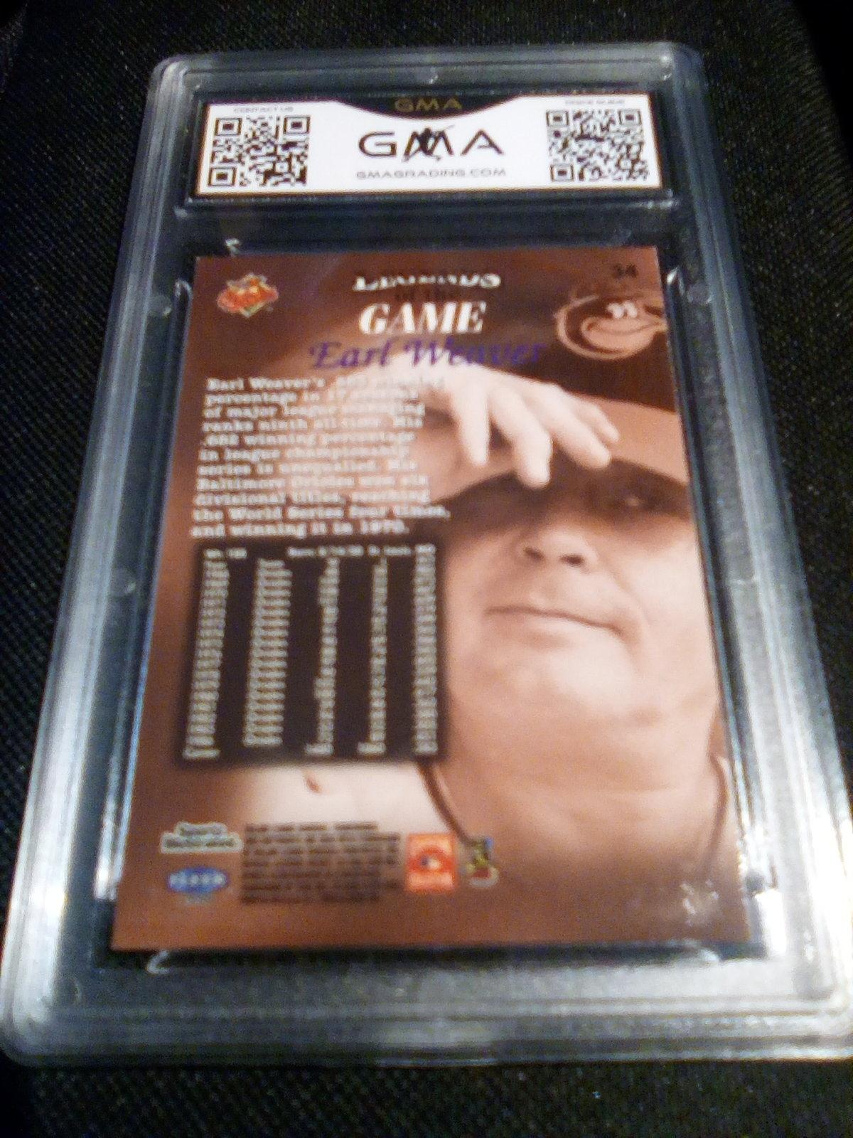 1998 fleer sports illustrated Earl Weaver GMA Graded 8.5 NM-MT+ baseball card 34