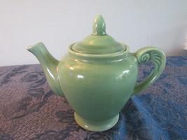 """Vintage Wells Art Glazes Blue Green 4""""  Teapot Homer Laughlin - $68.41"""