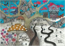 Tree. Illustration. Print. Poster. Gift. Art. H... - $80.00
