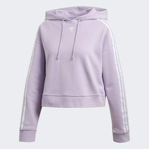 Adidas Originals Women's 3 Strpes Purple Glow Retro Cropped Hoodie DX2158 - $75.22