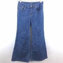 Victorias Secret London Jeans 6 Bellbottoms Blue Flare Classic Rise Deni... - $13.29