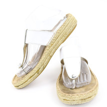 Nine West Dominate Sandals Hemp Slip On Open Toe Flats Summer Beach Cruise 8 - $15.19