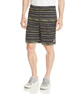 ASICS Men's Tennis 9-Inch Knit Shorts, Graphic Stripe Performance Black,... - $17.59