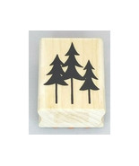 A Muse Artstamps Pine Tree Silhouette Wood Mounted Rubber Stamp - $3.99