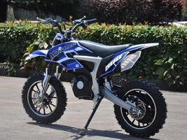 Electric Dirt Bike MotoTec 36V 500W Lithium Blue Motorcycle 3 Speeds Key Lock image 6