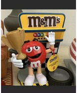M&M's World Racing Nascar Trophy  Dispenser Red Yellow New with Tag New ... - $117.56