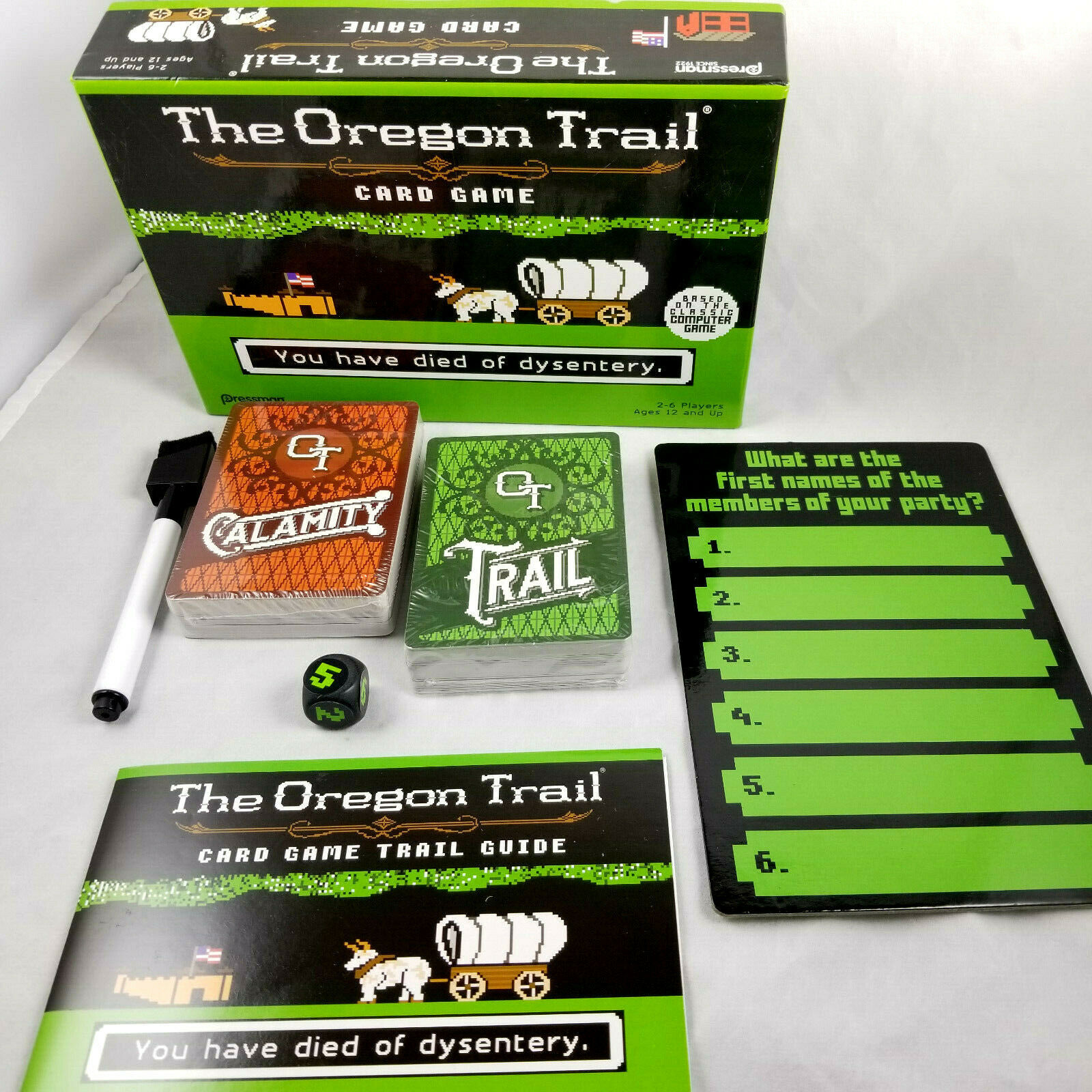 Primary image for The Oregon Trail Card Game Opened But Unused Items Sealed Ages 12 - Adult