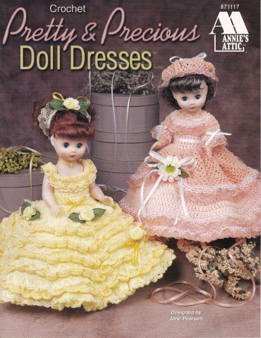 Primary image for Pretty & Precious Doll Dresses Crochet Elegant Southern Gals Bonnets Lace Pearls