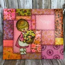 Vintage Hallmark 'Scraps' Scrapbook Photo Album Pink Patchwork Girl Flow... - $63.99
