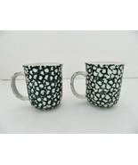 Folk Craft Tienshan Moose Country - 2 Coffee/Tea Mugs - Glazed Ceramic –... - $13.13