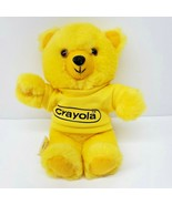 "Vintage Hallmark Crayola Crayon Yellow Teddy Bear Shirt Plush Stuffed 8"" - $28.97"