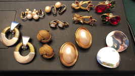 Lot of 9 pair of VINTAGE - SIGNED AVON - CLIP ON EARRINGS - $9.67