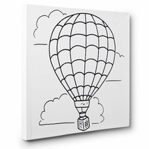 Hot Air Balloon Art Therapy Coloring CANVAS - $17.33+