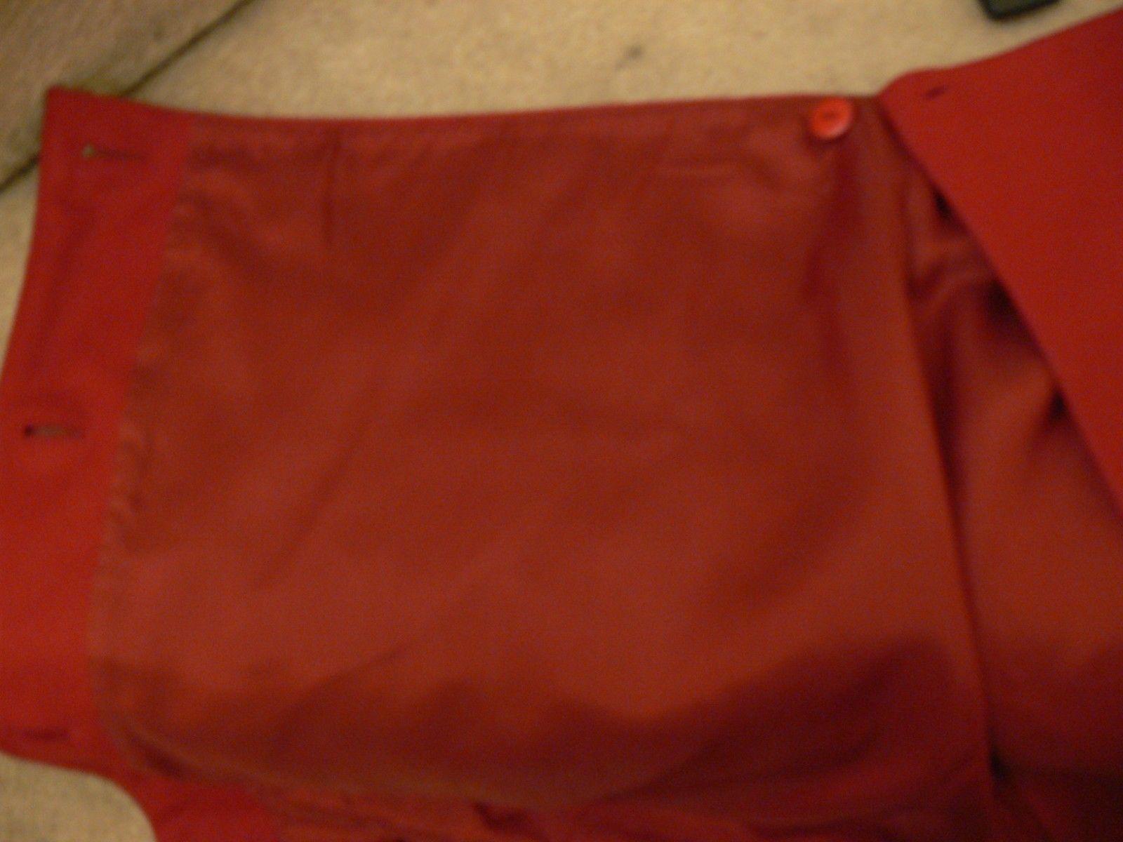 ANN TAYLOR Petite 70% Wool Wrap Mini Skirt Button Dark Red Size 8P ek