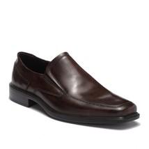 Ecco Men's Minneapolis Apron Toe Slip On Shoe Leather Dress Loafer Cocoa Brown - $79.90