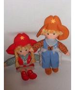 Vintage Knickerbocker Cowpokes 1981 Ruth Morehead Cowboy Cowgirl Cloth Doll - $15.29