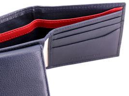 Tommy Hilfiger Men's Premium Leather Double Billfold Passcase Rfid Wallet Navy image 8