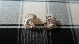 Vintage AVON Sterling Silver Clip Earrings 18mm - $20.49