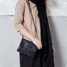 On Sale, Handmade Crossbody Bag, Full Grain Leather Shoulder Bag, Women Clutch image 2
