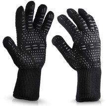 Resistant Heat Proof BBQ Gloves Oven Silicone For Cooking Baking Kitchen... - $15.42+