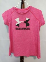 Under Armour size XL girls loose fit t-shirt pink SS scoop neck EUC - $13.96