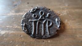 "Vintage Greek Sterling Silver Talismans Evil Eye Brooch Pin 1.5"" - $42.07"
