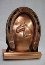 Gregorian Copper Horse Head Horseshoe Book End #212 - $14.25