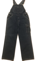 Tommy Hilfiger Mens Overall Jeans Blue Relaxed Fit Flat Front Cargo Pant L 34x27 - $67.15