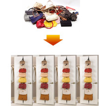 Hanger Bag Adjustable 8 Hook Over Door Strap Rack Hat Handbag Clothes Or... - $9.04
