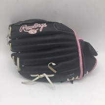 "Rawlings Girls Softball WFP115 Youth 11.5"" Black & Pink Leather Glove RHT - $16.82"