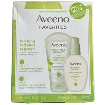 Aveeno Positively Radiant Set - Daily Scrub 5 oz & Daily Moisturizer SPF... - $14.82