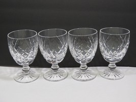 """Set of 4 Waterford Donegal Water Glasses Goblets 51/8"""" - $98.99"""