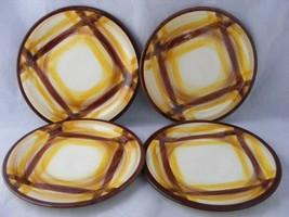 """4 Vernon Ware Organdie Mid-Century Modern 6 3/8"""" Bread Dessert Plates Mint - $19.95"""