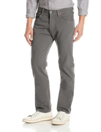 NEW LEVI'S 501 MEN'S ORIGINAL FIT STRAIGHT LEG JEANS BUTTON FLY GRAY 501-2220