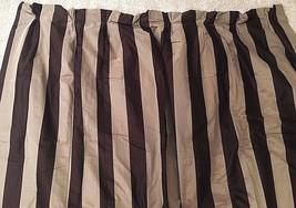 "THE CURTAIN EXCHANGE Chocolate Stripe Luxury Custom Silk Drapes 54"" x 120"" $1500 - $379.99"