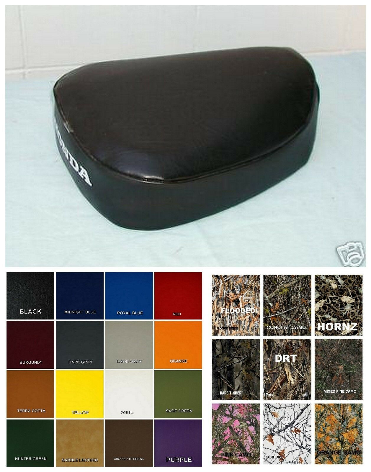 Primary image for HONDA CT110 Seat Cover CT 110 WELT 1980 1981 1982 1983 1984 1985 1986  (ST/BW)