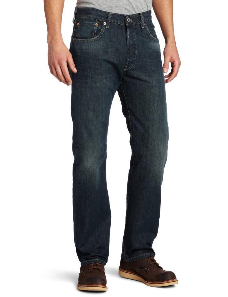 NEW LEVI'S STRAUSS 501 MEN'S PREMIUM STRAIGHT LEG JEANS BUTTON FLY 501-0990
